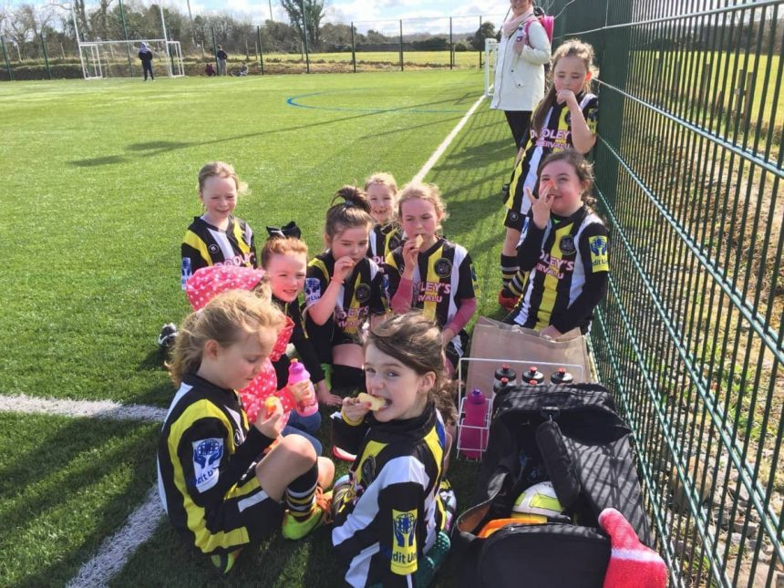 U8 Girls playing Kilcornan