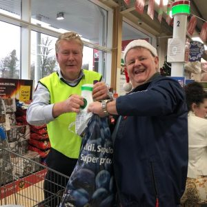 Christmas fundraiser at TESCO